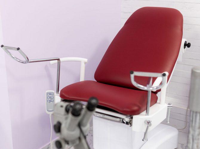 Nőgyógyászati vizsgáló szék